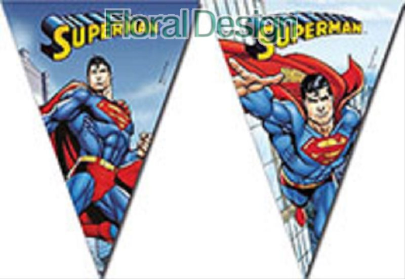 "Baner 9 vlajek ""Superman"""