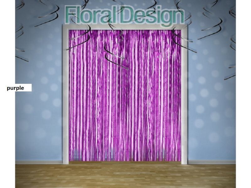 Party opona 0,90 x 2,5m purple