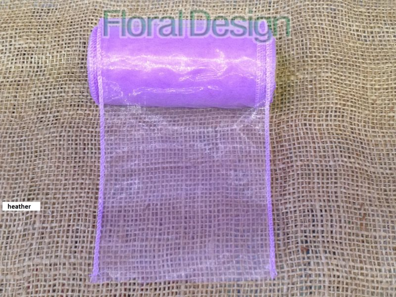 Organza 12cm x 8m heather