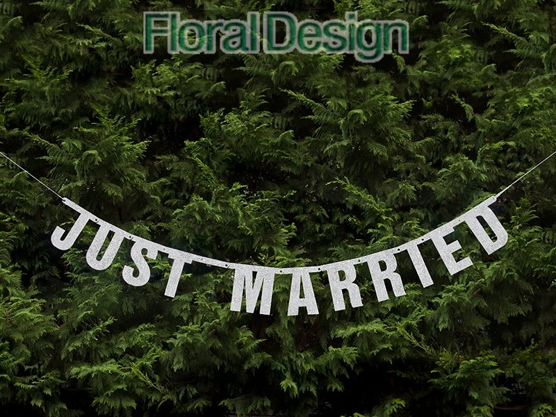 "Baner 19 x 170cm ""Just Married"""
