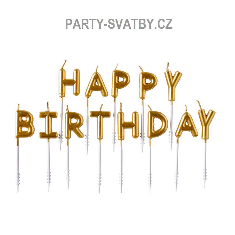 Happy birthday svíčky