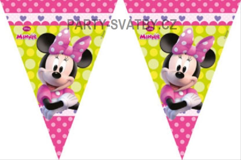 "Baner 9 vlajek ""Minnie mouse"""
