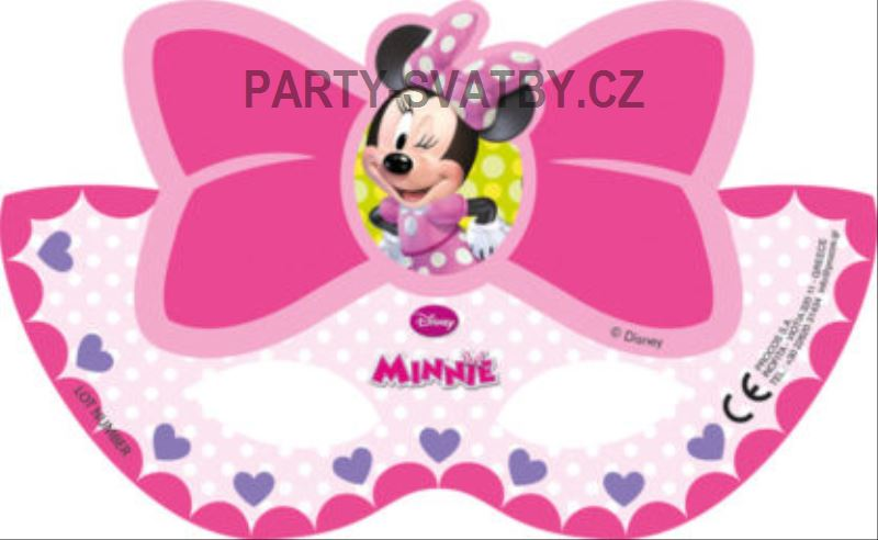 "Maska ""Minnie mouse"" 6ks"