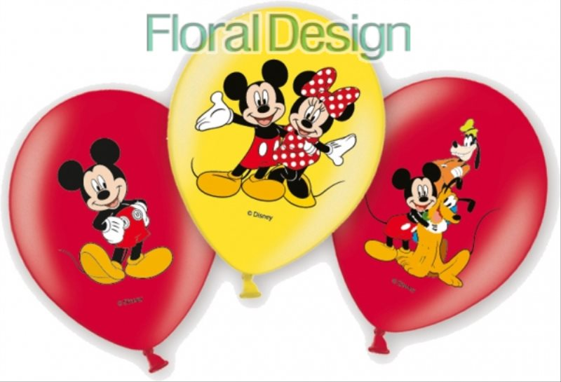 "Balonek latex 28cm ""Mickey mouse"" 6ks"